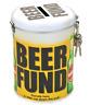 Beer Fund Novelty Fine Tin Money Storage Lockable Piggy bank Savings Jar Gift