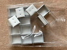 JOBLOT-16 pieces of GIFT BOXES for stud earrings.White inserts.