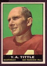 1961 TOPPS Y.A. TITTLE CARD NO:58 NEAR MINT CONDITION