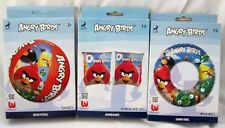 "Angry Birds 20"" Inflatable Beach Ball,Angry Birds Floating Rings,& Arm Floats"