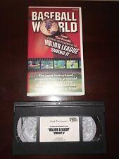 Vhs -Baseball World Mechanics of the Major League Swing Ii coaching instruction