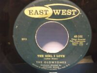 "The Glowtones,East/West 101,""The  Girl I Love"",US,7"" 45,1957 doo wop,rare,Mint-"