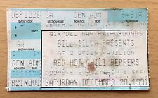1991 Nirvana Pearl Jam Red Hot Chili Peppers Del Mar Concert Ticket Stub Cobain