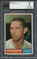 1961 topps #55 JIM DAVENPORT san francisco giants BGS BVG 7