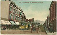 Postcard 3rd Street View San Bernardino California CA Horse Buggy Trolley 1900's