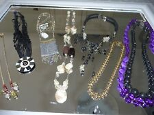 8 new bead necklaces.glass, seashell, butterfly, gold choker etc NEW