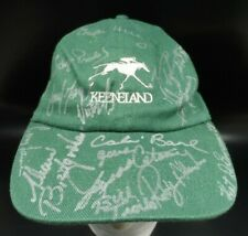 Keeneland Hat Jockey's Guild Cap One of a Kind Jockey Signed Horse Racing Cap