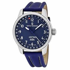 Revue Thommen Men's Air Speed Blue Dial Leather Strap Automatic Watch 16050.2535