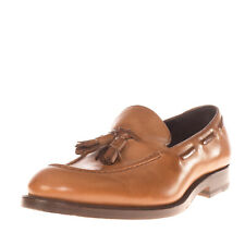 RRP €255 FRATELLI ROSSETTI Leather Loafer Shoes Size 41 UK 7 US 8 Made in Italy