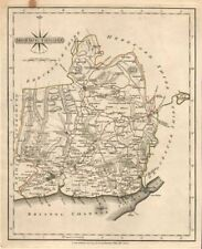 Maps, Atlases & Globes Antique County Map Of Surrey By John Cary Original Outline Colour 1787