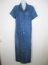 Millers Women's Size 14 Jean Dress Retro vintage 90s blue denim button down Y1