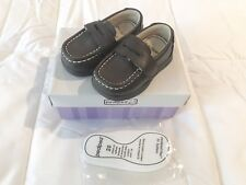 Pediped Charlie Choc Brown Loafer Dress Shoe US 5 EU 20, NEW In Box