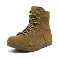 US  Men's  Military Tactical Boots Mid-Ankle Lightweight Leather Work Boots