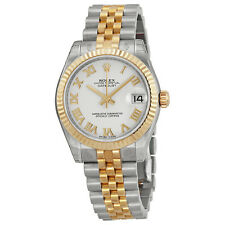 Rolex Datejust Lady 31 White Dial Stainless Steel and 18K Yellow Gold Jubilee