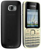 Original Nokia C2-01 3G Black Gold Unlocked English Hebrew Keyboard Cheap Phone