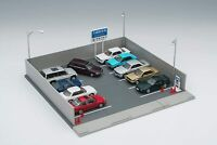 TOMYTEC TOMICARAMA Vintage 1/64 03b Monthly parking for mini cars Diorama