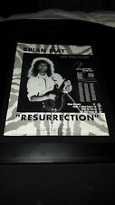 Brian May Resurrection Rare Original Radio Promo Poster Ad Framed!