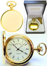 Mount Royal Hunter Pocket Watch 17 Jewel Gold-Plated with Free Engraving (B23mr)