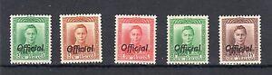 New Zealand 1938-51 Officials vals to 1 1/2d  LMM/MM