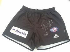AUTHENTICALLY SIGNED ALAN DIDAK MATCH-WORN COLLINGWOOD SHORTS. RARE ITEM!