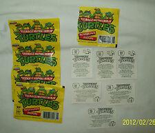 Vintage Teenage Mutant Ninja Turtles Collector Autocollants Stickers RARE HTF!