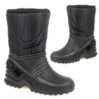 BOYS SNOW BOOTS GIRLS WATERPROOF FUR MUCKER RAIN SKI WELLINGTONS SLIP ON SHOES