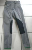 Cavallo Damenreithose, Kniebesatz, blau grau, Gr. 36, Hochbund, (2403)