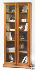 Bibliothèque 2 portes vitrées merisier Louis Philippe