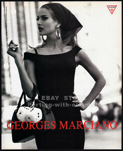 GUESS__KAREN MULDER__Original 1991 Print  AD fashion promo__Georges Marciano