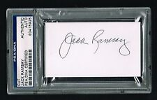 Jack Ramsay signed autograph auto 2x3.5 cut Basketball Hall of Fame PSA Slabbed