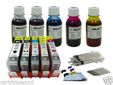 5 Refillable ink cartridge with chip HP 564 XL Photosmart 7510 7515 C635+5x4oz1P