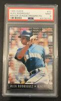 1995 Fleer #10 Alex Rodriguez Fleer Major League Prospects #10 Mariners PSA 9