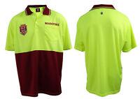 2019 State of Origin QLD Queensland Maroons Short Sleeve Polo HI VIS Work Shirt