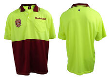 2018 State of Origin QLD Queensland Maroons Short Sleeve Polo HI VIS Work Shirt