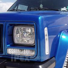 1997-2001 Jeep Cherokee Chrome Headlights + Side Corner + Bumper Signal Lights