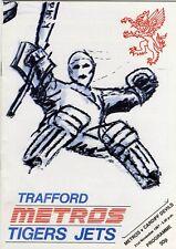 Nov 87 TRAFFORD METROS v CARDIFF DEVILS Aut Trophy FINAL (Devils second season)