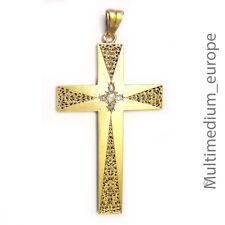 585 antico Nouveau Oro Ciondolo a Croce Diamante Antique pendant cross Diamond