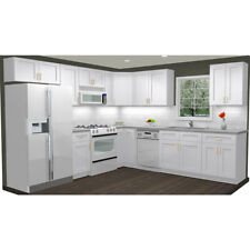 Kitchen Cabinets Wood 10x10 Rta Group Fully Custom Assembled-Summit Shaker White