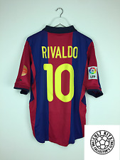 Barcelona RIVALDO #10 00/01 Home Football Shirt (L) Soccer Jersey Nike