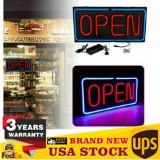 24x12 inch Neon Led Open Shop Sign Neon Display Window Hanging Light Top Quality