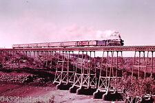 Victorian Railways Steam R707 Crossing Melton Weir..Train to Ballarat late 1972