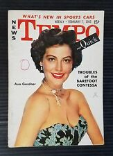Tempo News & Quick Pocket Weekly February 7, 1955 Ava Gardner - Barbara Nichols