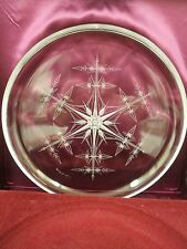 1977 Franklin Crystal Plate 'Snowflake' Peter Yenawine Boxed 1st Issue Cert.