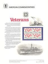 #27 10c VFW 75th Anniver. #1525  USPS Commemorative Stamp Panel