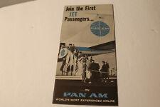 Brochure:  PAN AM First Jet Passengers B-707    1958.