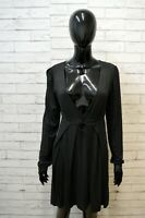 Vestito PINKO Tubino Donna Taglia L Abito Dress Robe Kleid Grigio Elastico Woman