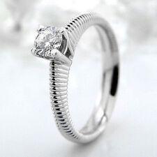 Reinheit IF Solitäre Echte Diamanten-Ringe aus Weißgold