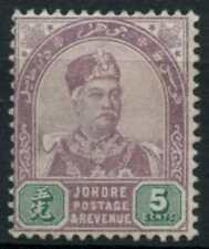 Johore 1891, 5c Dull Purple And Green Unused No Gum #D81312
