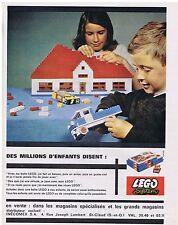 PUBLICITE ADVERTISING 104 1963    jeux jouets Lego