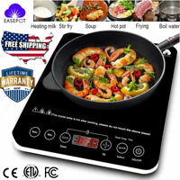 Electric Single Induction Cooker 1800W Portable Burner Cooktop Digital Hot Plate